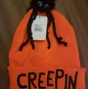 NEW Halloween Creepy Spider Skull Cap Hat